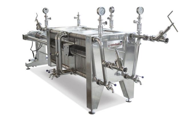 Filtri-pressa-a-coadiuvanti-di–filtrazione-con-piastre-a-cartoni-e-telai-birra-spadoni-meccanica-italia